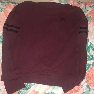 Maroon Longsleeve shirt Victoria Secret
